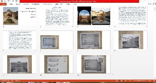 1763428 - پاورپوینت خانه طباطبایی ها و ورد معماری بیونیک
